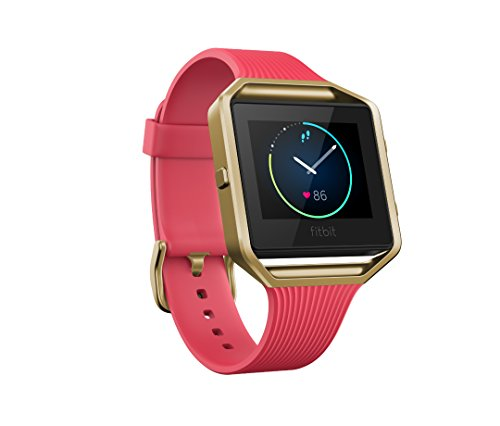 Fitbit Blaze Special Edition, Gold, Pink, Small (5.5 - 6.7 inch) (US Version)
