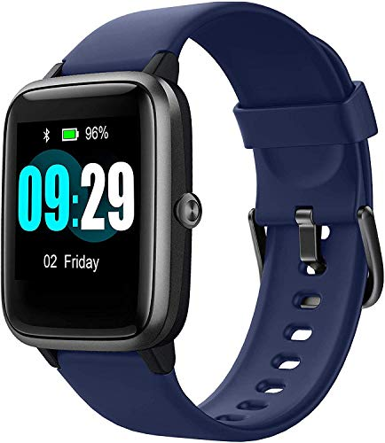 Smart Watch for Android/Samsung/iPhone, Activity Fitness Tracker with IP68 Waterproof for Men Women & Kids, Smartwatch with 1.3' Full-Touch Color Screen, Heart Rate & Sleep Monitor, Blue