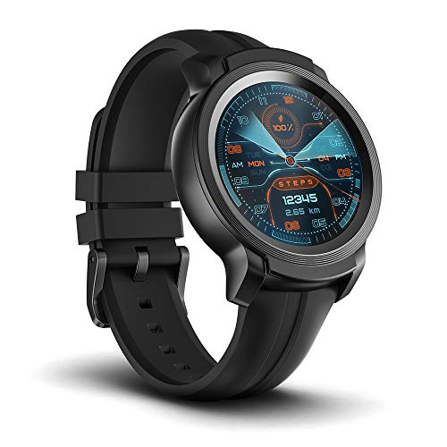 TicWatch E2 Smartwatch, GPS Waterproof 24 Hours Heart Rate Monitor, Running on Wear OS by Google, Black