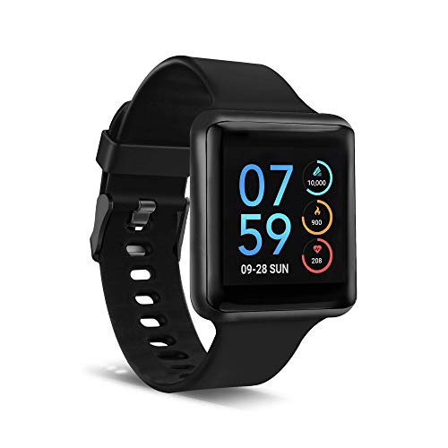 iTouch Air SE Smartwatch Fitness Tracker Heart Rate Step Counter Sleep Monitor Text Messages IP67 Water Resistant for Women and Men up to 30 Day Battery Touch Screen Compatible w Android & iOS (41mm)