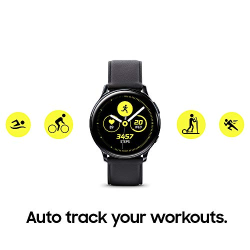 SAMSUNG Galaxy Watch Active 2 (40mm, GPS, Bluetooth) Smart Watch with Advanced Health Monitoring, Fitness Tracking, and Long Lasting Battery, Aqua Black (US Version)