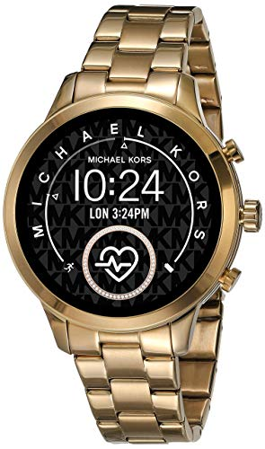 Michael Kors Women's Access Runway Stainless Steel Plated touchscreen Watch Strap, GoldTone, 18 (Model: MKT5045)