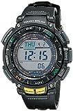 Casio Men's PRO TREK Stainless Steel Quartz Watch with Resin Strap, Black, (Model: PAG-240-1CR)