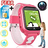 [Free SIM Card] Kids Phone Smart Watch IP68 Waterproof GPS Tracker for Boys Girls Fitness Tracker Two Way SOS Phonewatch Anti-Lost Game Camera Pedometer Outdoor Travel Wristband Birthday Gifts