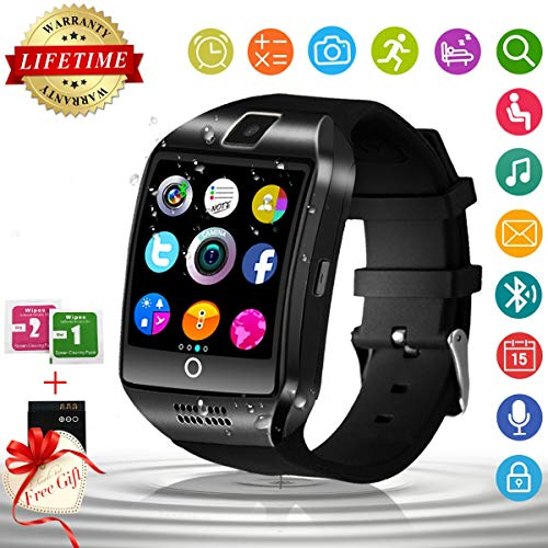 Bluetooth Smart Watch with Camera Sim Card Slot Touch Screen Smartwatch Unlocked Cell Phone Watch Sports Smart Wrist Watch for Android Phones Samsung Sony iOS